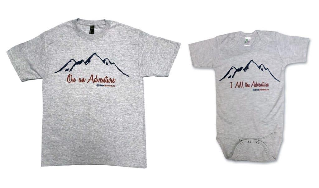 T-shirt and onesie combo