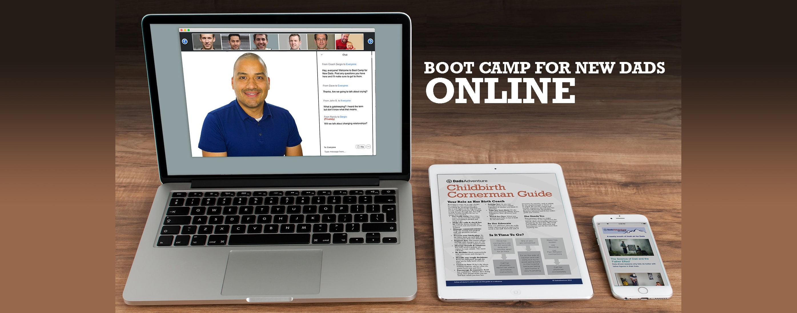 Boot Camp for New Dads Online